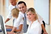 picture of people work  - Business people working in the office - JPG