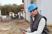 Supervisor on construction site