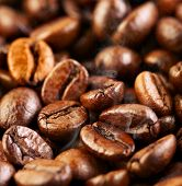 foto of coffee crop  - Fragrant fried coffee beans a - JPG