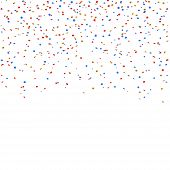 Gold Blue Red Confetti Background poster