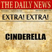 cinderella, newspaper article text poster