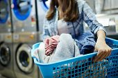 Clothes in laundry-basket poster