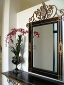 picture of console-mirror  - Welcoming entry to a modern home with feature console table - JPG
