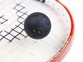 Squash Schläger mit ball