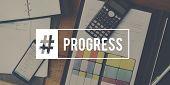 Progress Word Business Corporate Analyze poster