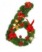 stock photo of six-petaled  - Christmas No  - JPG