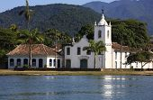 church of the beautiful portuguese colonial typical town of parati in rio de janeiro state brazil