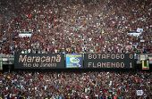 final of the soccer rio state championship 2007 between flamengo and botafogo in the maracana stadiu