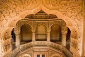 picture of jainism  - jain temple of amar sagar near jaisalmer in rajasthan state in india - JPG
