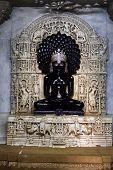 jain temple of lodruva jaisalmer in rajasthan state in india