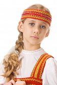 Belarussian girl in national dress