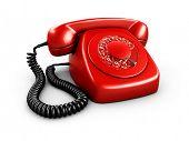 3d rendering of an old vintage phone