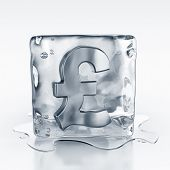 3d rendering of an icecube with a pound symbol inside