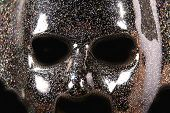 Black Mask With Sparkling Shinny Paint And Speckles Of Glitter