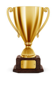 image of trophy  - 3d rendering of classic trophy in gold - JPG