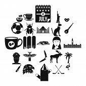 Landmark Icons Set. Simple Set Of 25 Landmark Icons For Web Isolated On White Background poster