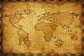 Old world map in vintage style. Elements of this image furnished by NASA. poster