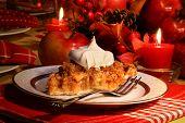 Pastel de crumble de manzana para las fiestas
