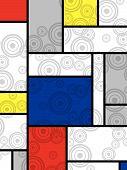 Mondrian Goes Retro Print (Vector) poster