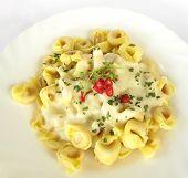 Tortellini Italian stuffed pasta