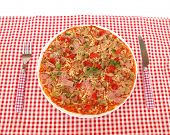foto of pizza parlor  - Pizza served in pizzeria - JPG