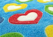 hearts of love on soft blanket pattern