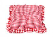 Pillow red and white plaid lovely
