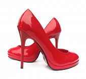 picture of high heels  - Red high heels pump shoes - JPG