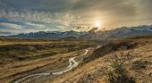 Cave Stream Scenic Reserve during sunset, Canterbury, South Island, New Zealand poster