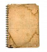 Grunge vintage old cover of notebook