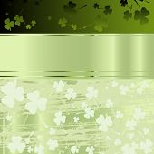 image of four leaf clover  - Festive design for St - JPG