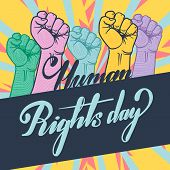 Nice And Beautiful Abstract For Human Rights Day Background With Nice And Creative Design Illustrati poster