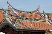 Cheng Hoon Teng buddhism temple roof, Melaka, Malaysia