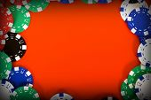 frame of casino chips