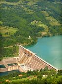 stock photo of hydroelectric  - hydroelectric power station - JPG