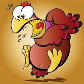 Pollo asustado