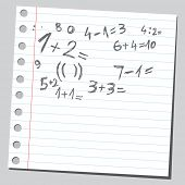 Scribble mathematics