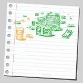 Scribble money