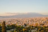 Athenes Panorama, View From The Acropolis, Tourist Place. Greece. Europe poster
