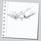Apretón de manos de garabato