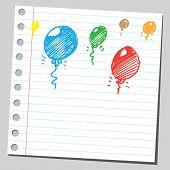 Scribble balloons