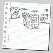 Scribble newspapers