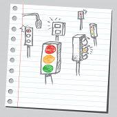 Rabisco semáforos