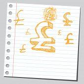 Símbolo de libra de garabato
