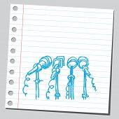 Scribble microphones