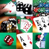 Постер, плакат: набор различных действий и сцены в казино