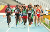 BARCELONA- JULY 11: Competitors of 5000 meters during the 20th World Junior Athletics Championships