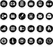 Vector ilustración de un conjunto de varios iconos y símbolos