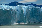 Collapse On The Perito Moreno Glacier In Patagonia, Argentina.
