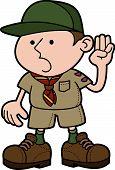 Illustratie van Boy Scout